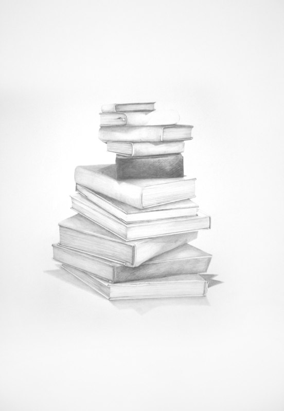 Art Books, 2012 graphite on paper 40 x 28 inches