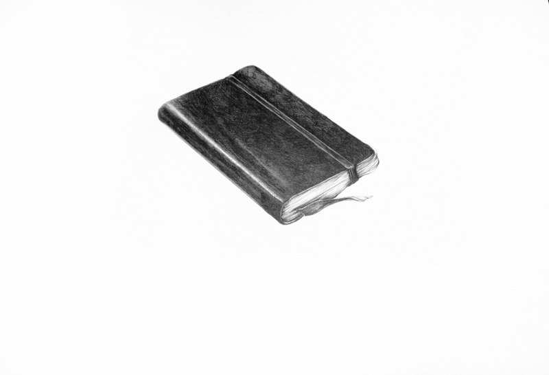 Lydia's Address Book, 2011, graphite on paper, 12 x 16 inches