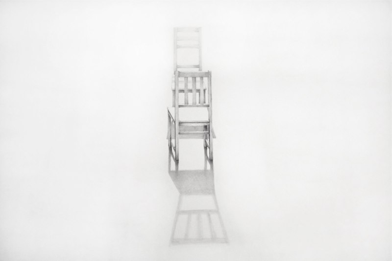 Conversation 1, 2013, graphite on paper, 23 x 29 inches
