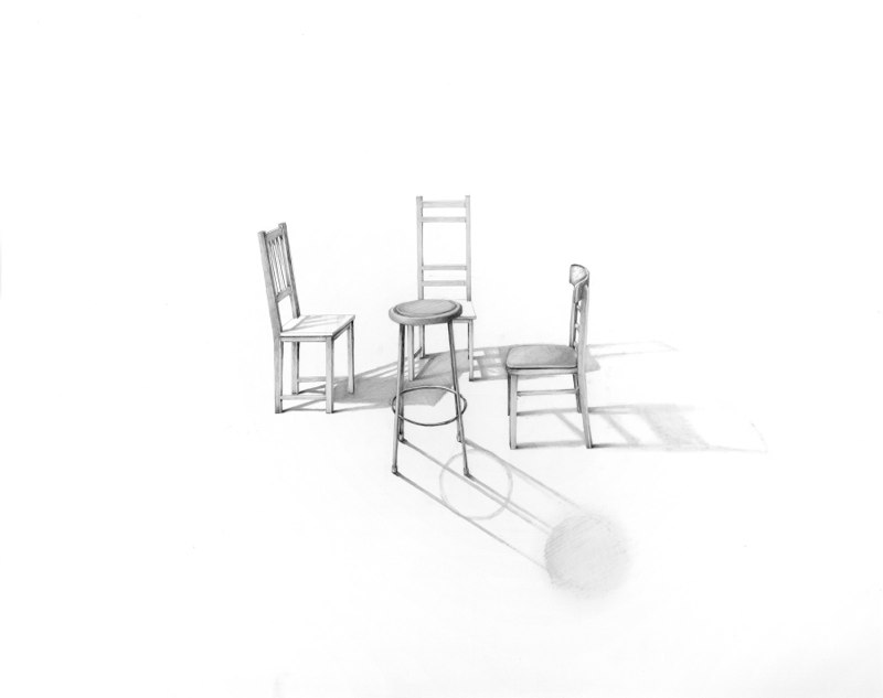 Conversation 10, 2013, graphite on paper, 23 x 29 inches