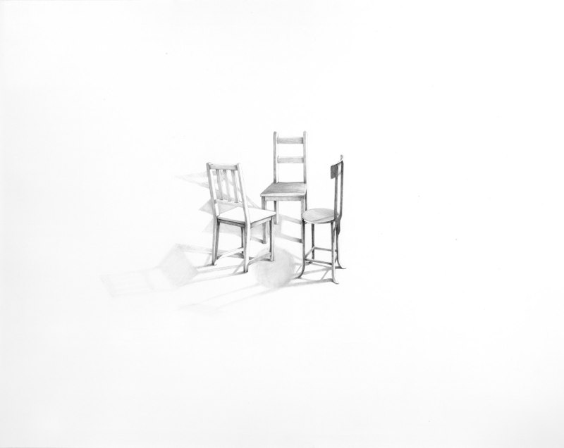 Conversation 12, 2013, graphite on paper, 23 x 29 inches