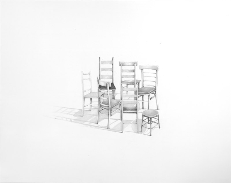 Dissenter, 2013, graphite on paper, 23 x 29 inches