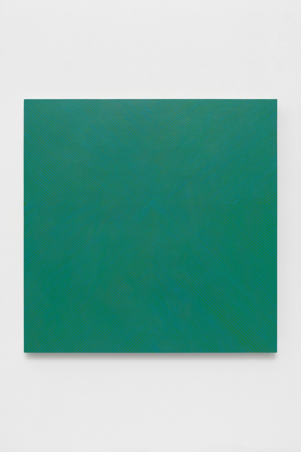 Jade Emerald, 2015, acrylic on panel, 48 x 48 x 2 inches