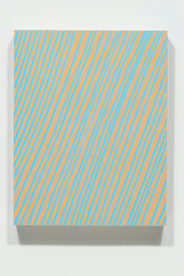 Almost Invisible, 2014, acrylic + phosphorescent acrylic on panel,  14 x 11 x 2 inches