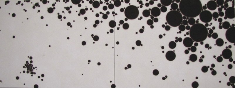 Flux 105,  2010, acrylic on canvas, 36 x 96 inches