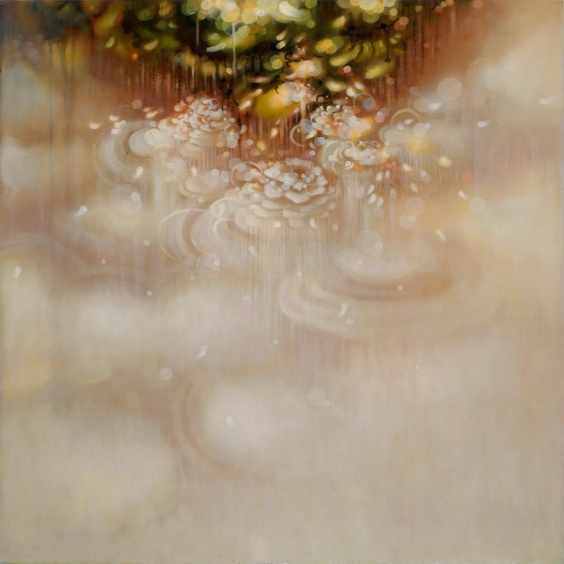 A Fragrant Drift, 2011, acrylic and oil on wood panel, 32 x 32 inches