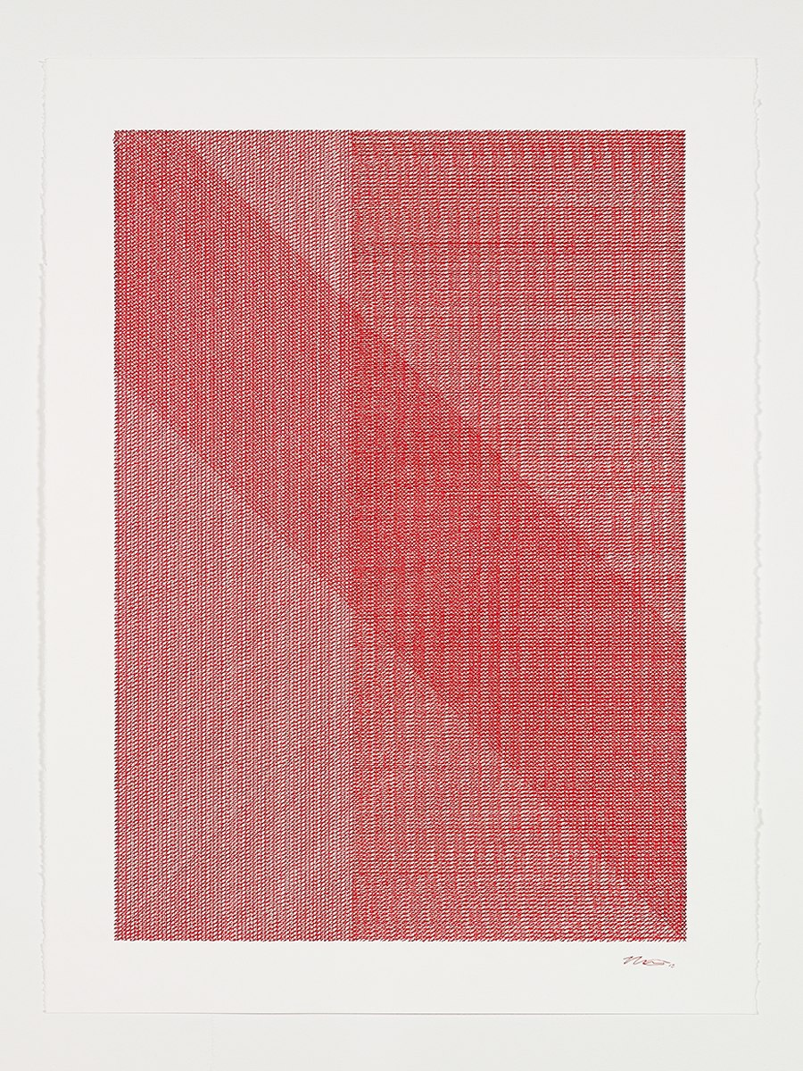 Mikey Kelly  -  13.317 , 2013 ink on paper 30 x 22 inches