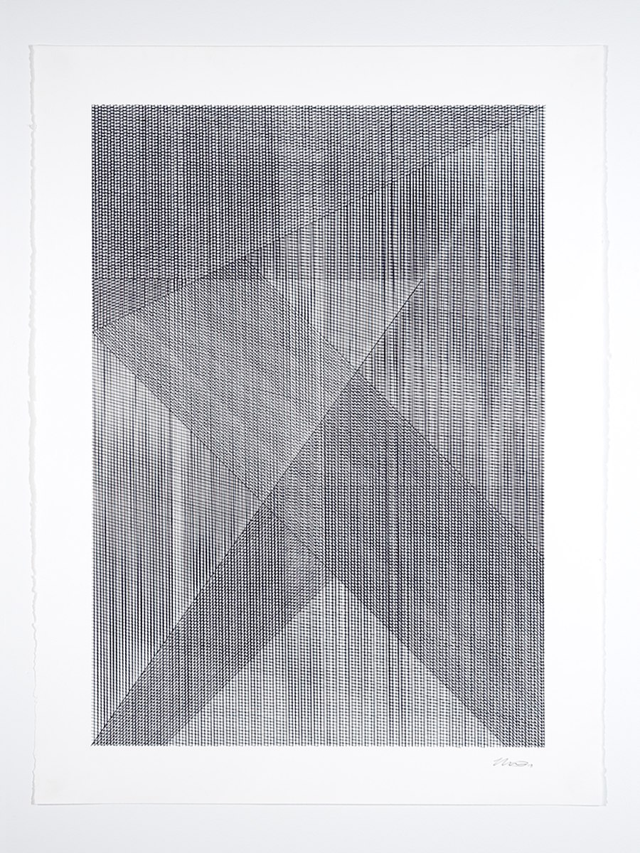 Mikey Kelly  -  13.324 , 2013 ink on paper 30 x 22 inches