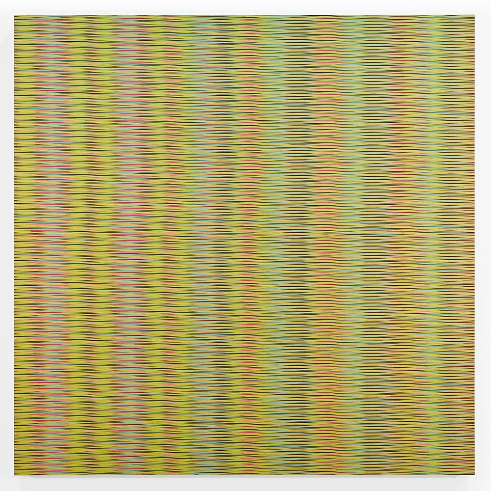 Mikey Kelly  -  15.120 , 2015 enamel on panel 36 x 36 inches