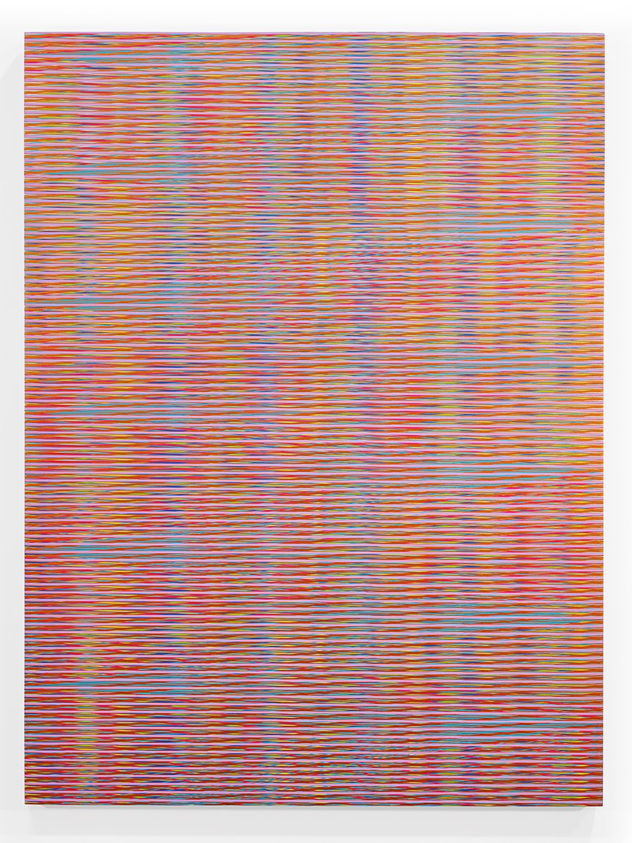 Mikey Kelly  -  15.147 , 2015 enamel on panel 48 x 36 inches