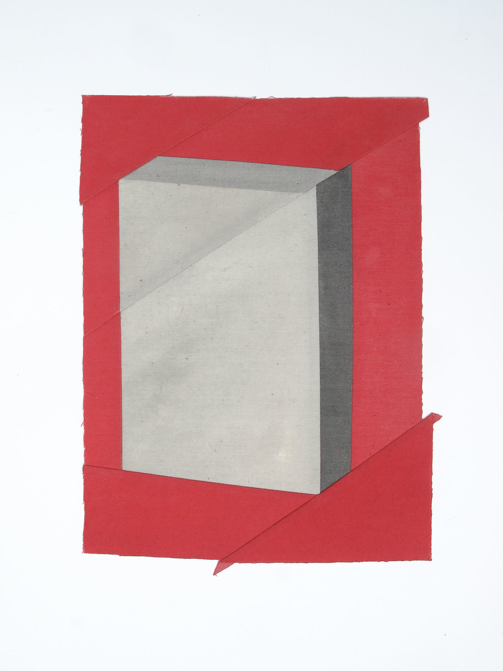 Gabrielle Teschner  -  Inter Gravissimus DAY 10 (minute) , 2013 acrylic ink on muslin approximately 10 x 7.5 inches
