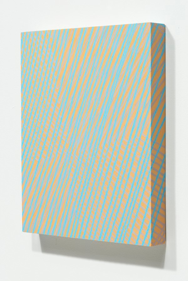 Mel Prest Almost Invisible, 2014 acrylic + phosphorescent on panel  14 x 11 x 2 inches