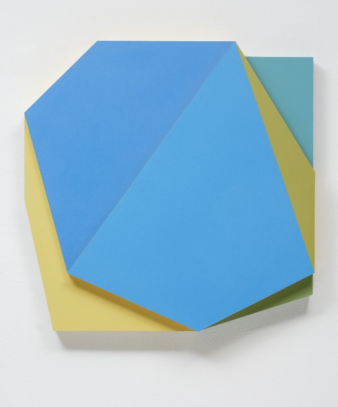 Connie Goldman - Shift VII, 2015 oil on panel 20 x 20 1/4 x 4 inches