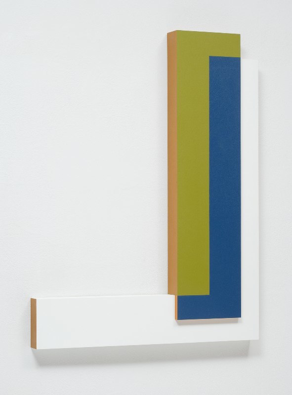 Connie Goldman Shift VIII, 2015 oil on panel 28 x 26 x 2 inches