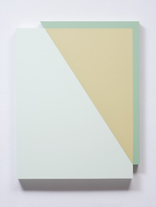 Connie Goldman Shift III, 2015 oil on panel 21 1/8 x 18 x 2 inches