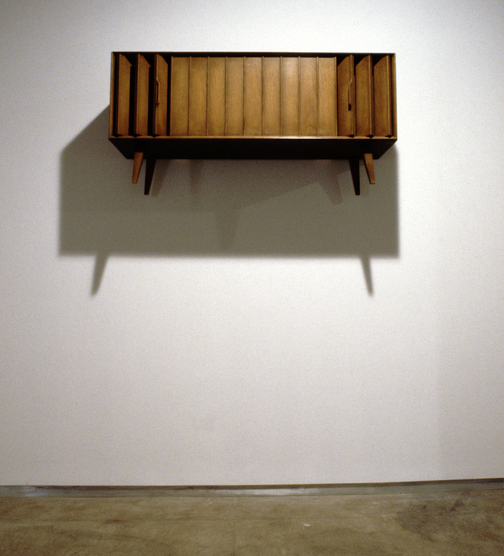 Zenith, 2000, wooden component hi-fi and soundtrack, 21 x 18 x 20 inches