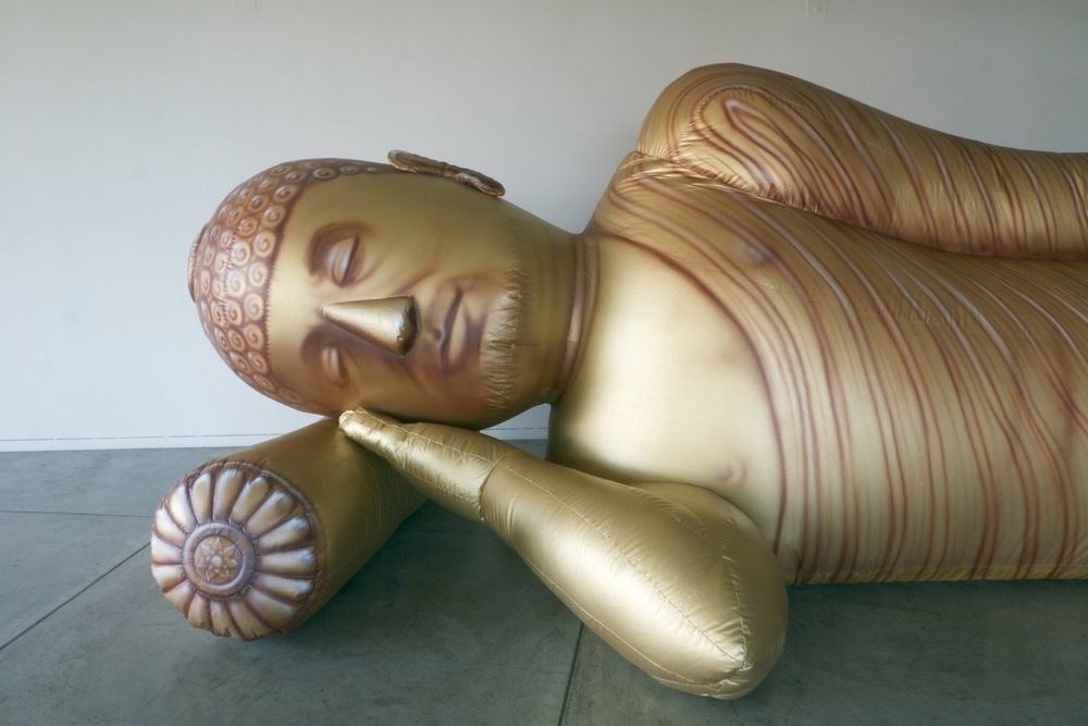 Parinirvana (Gold), (detail)