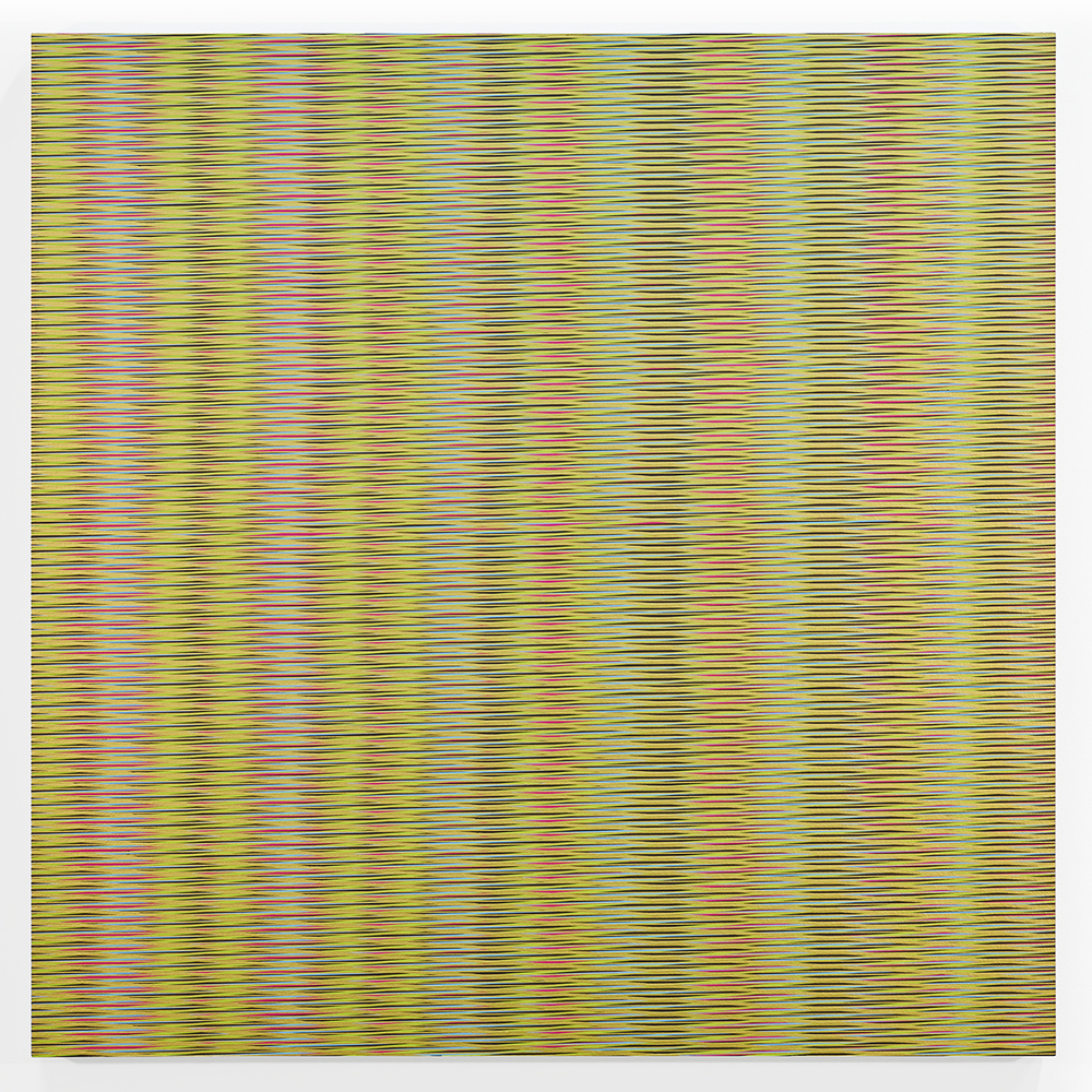 15.120, 2015, enamel on panel, 36 x 36 inches