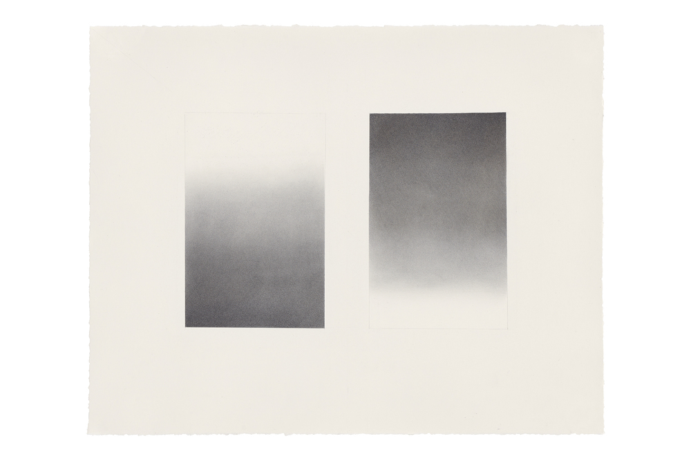 "Sheila Ghidini, ""Pneuma,"" 2015, graphite and mica dust on paper, 29.5 x 24 inches"