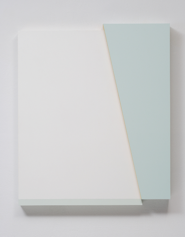 Connie Goldman, Shift I, 2015, oil on panel, 21 3/4 X 18 1/4 x 2 inches