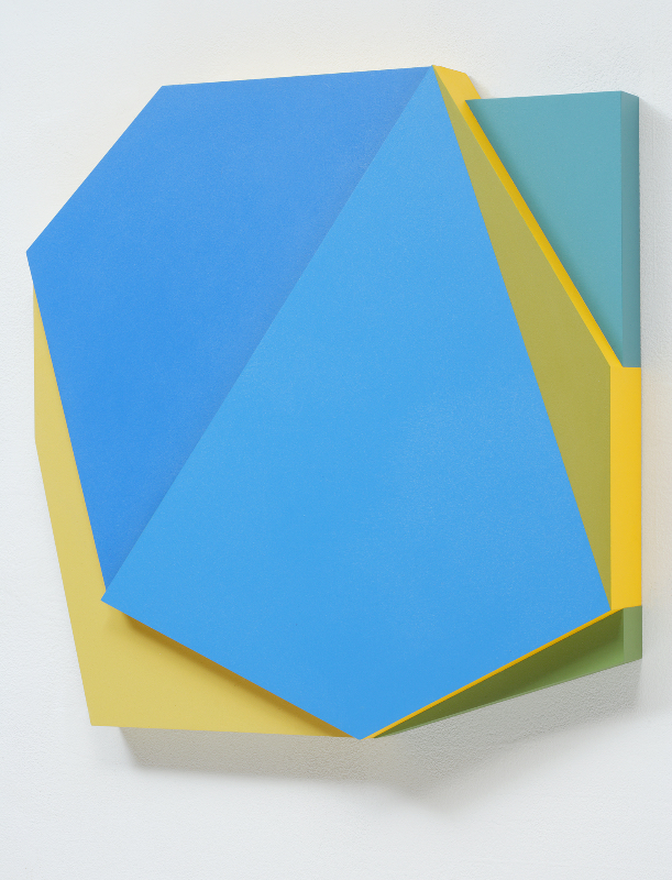 Connie Goldman, Shift VII, 2015, oil on panel, 20 X 20 1/4 x 4 inches