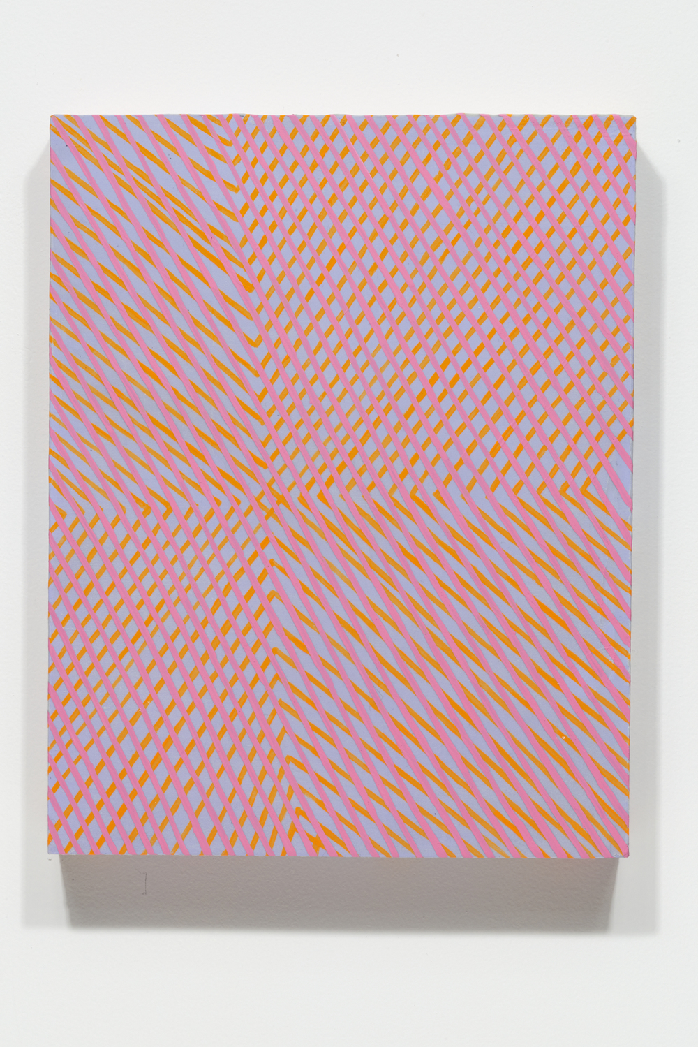 Mel Prest, The East is Blue, 2014, acrylic and fluorescent acrylic on panel, 14 x 11 x 2 inches