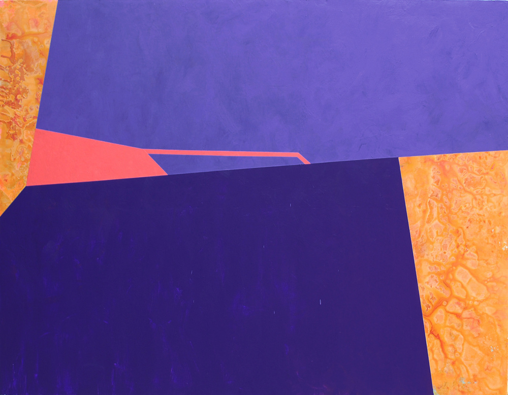 Untitled (1.25.4), 2014, acrylic on canvas, 52 x 72 inches