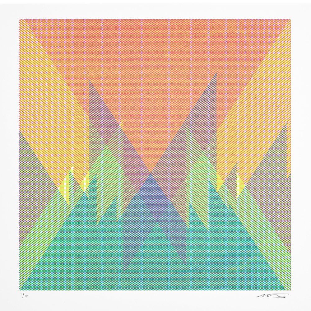 15.111, 2015, silkscreen limited edition, ink on paper, 22 x 22 inches
