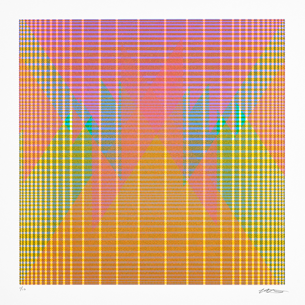 15.110, 2015, silkscreen limited edition, ink on paper, 22 x 22 inches