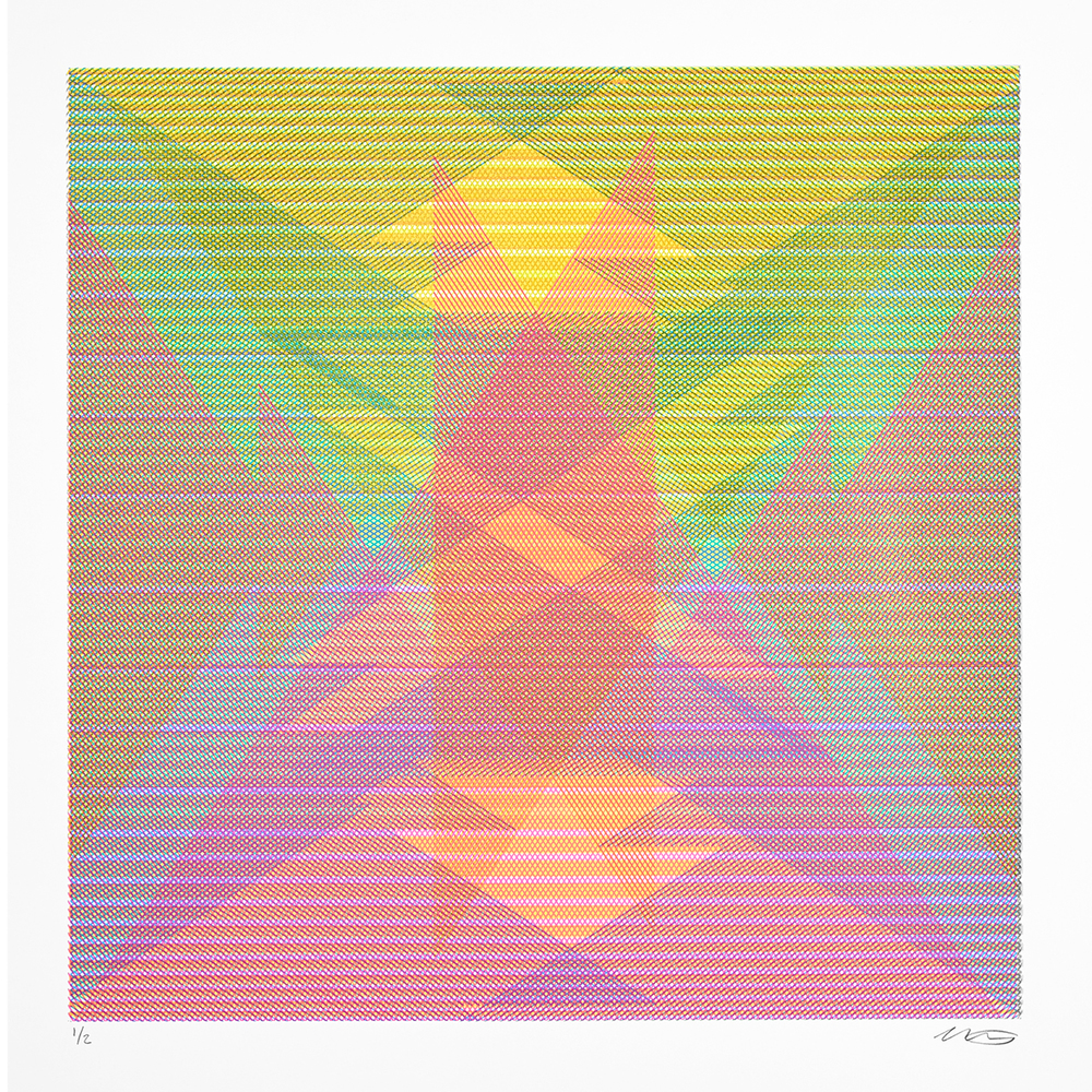 15.116, 2015, silkscreen limited edition, ink on paper, 22 x 22 inches