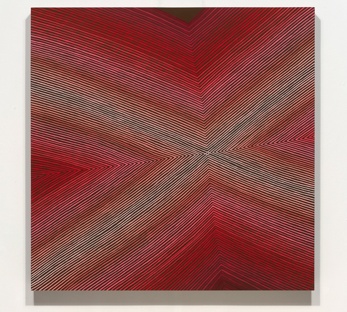 Pink Films, 2011, oil on panel, 36 x 36 x 2 inches