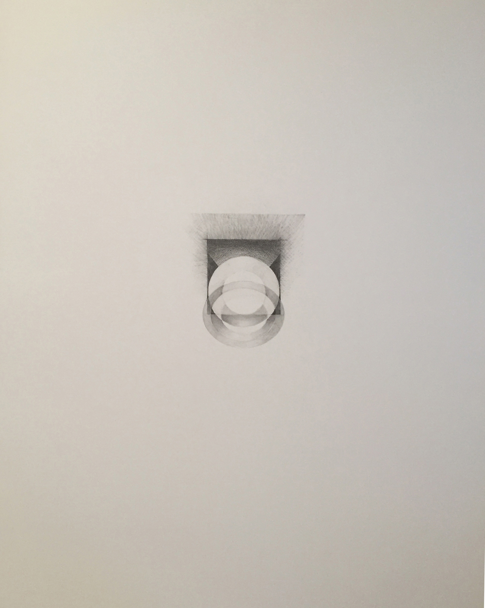 Ghidini, Grace 9, 2015, graphite and mica dust on paper, 28 1/2 x 22 1/2 inches