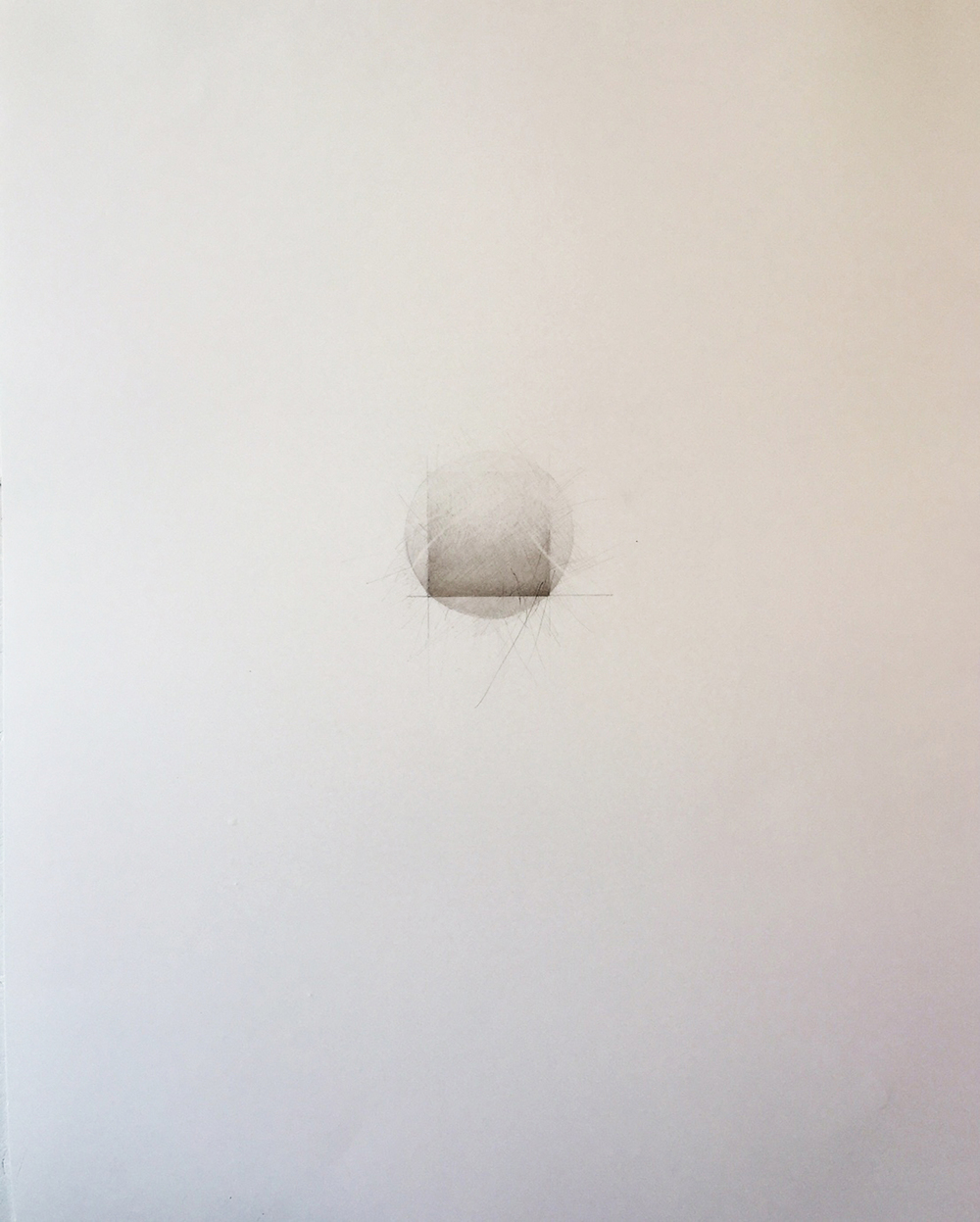 Ghidini, Grace 2, 2015, graphite and mica dust on paper, 28 1/2 x 22 1/2 inches