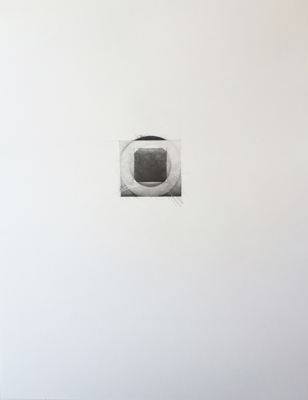 Ghidini, Grace 6, 2015, graphite and mica dust on paper, 28 1/2 x 22 1/2 inches