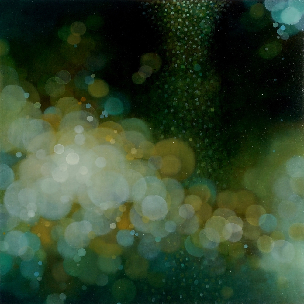 A Delicate Light Moving Through, 2009, oil on panel, 24 x 24 inches