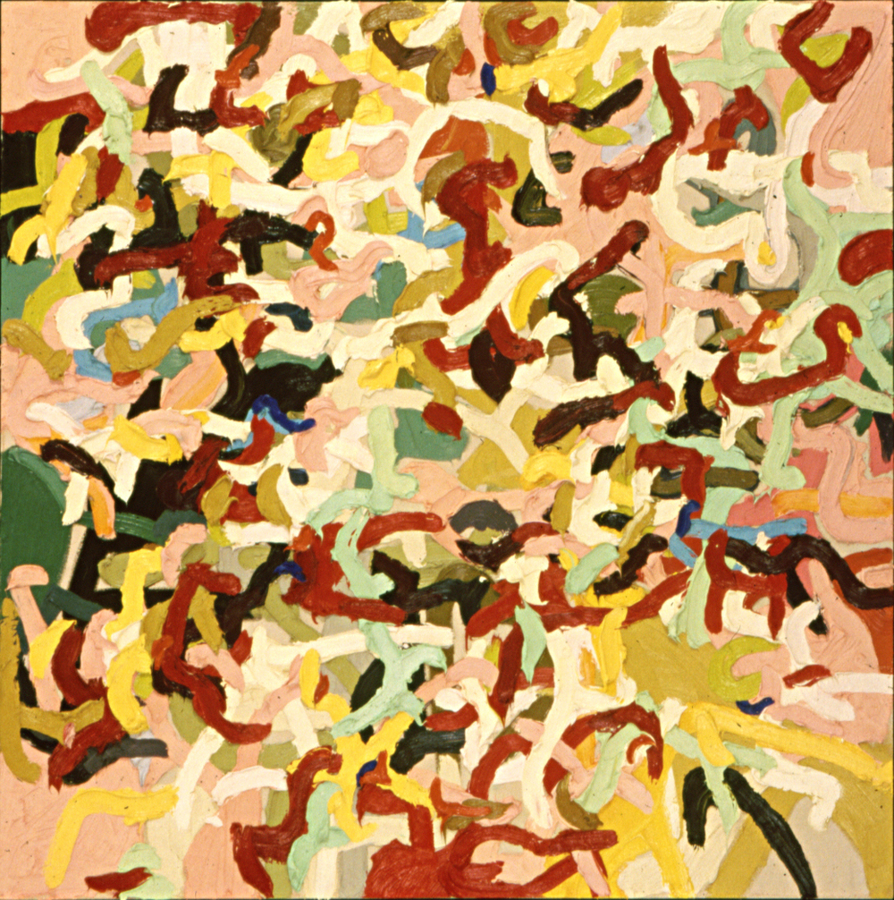 Madrigal #7, 1995, oil on canvas, 52 x 52 inches