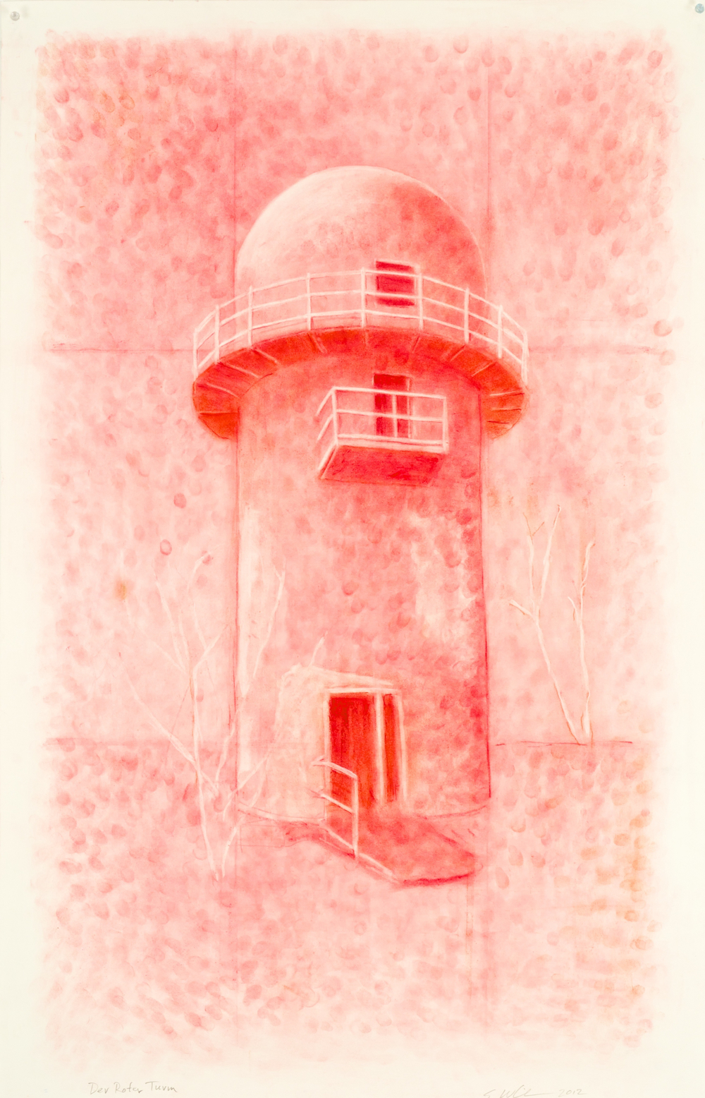 Berlin (Der Roter Turm), 2012, pastel on paper, 48 x 30 inches
