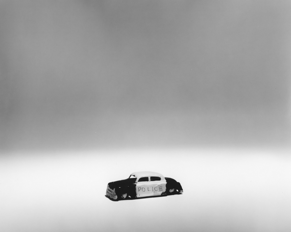 VILLAGE (police car), gelatin silver print, 20 x 24 inches