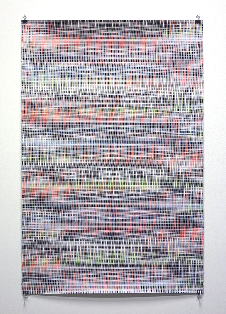 16.043, 2016, acrylic on paper, 40 x 26 inches