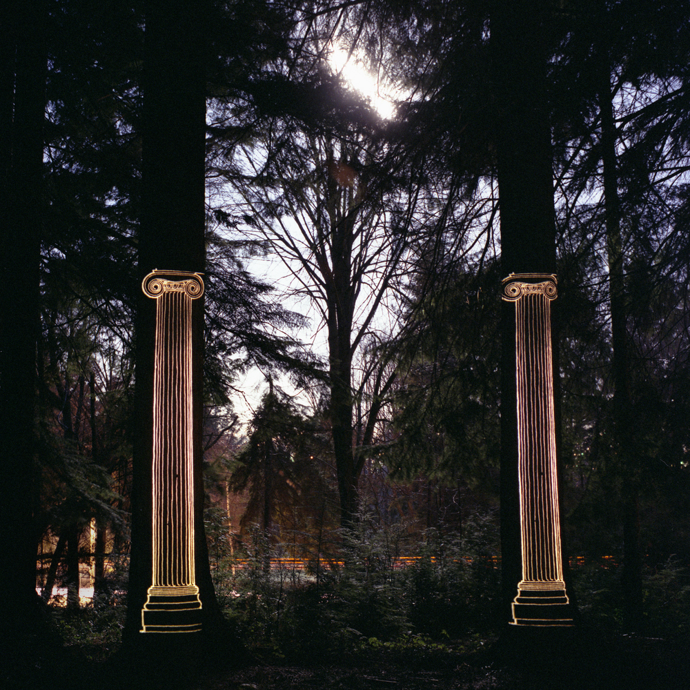 """Lewis deSoto, """"Temple,"""" 1986, Epson K3 inks on paper from Kodacolor negative, 20 x 20 inches, edition 1/11"""