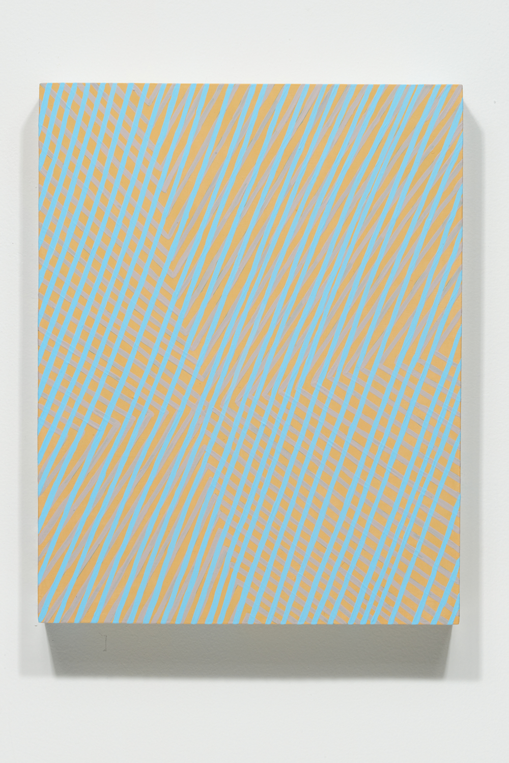 "Mel Prest, ""Almost Invisible,""  2014, acrylic and phosphorescent acrylic on panel, 14 x 11 x 2 inches"