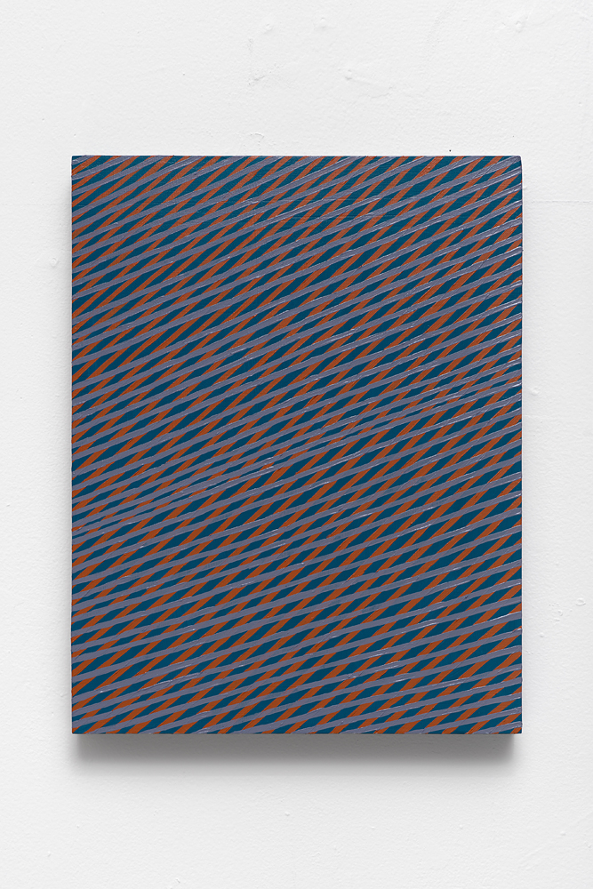 "Mel Prest, ""Wind Harp Mouth,"" 2014, acrylic on panel, 14 x 11 x 2 inches"