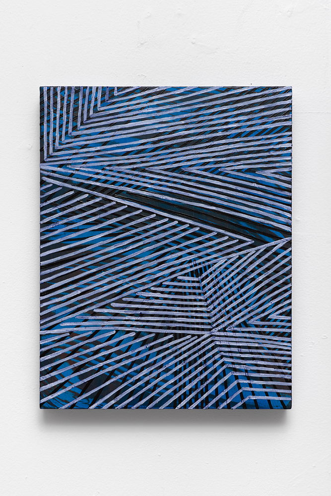 "Mel Prest, ""Zedonk,"" 2013-2015, acrylic on panel, 14 x 11 x 2 inches"