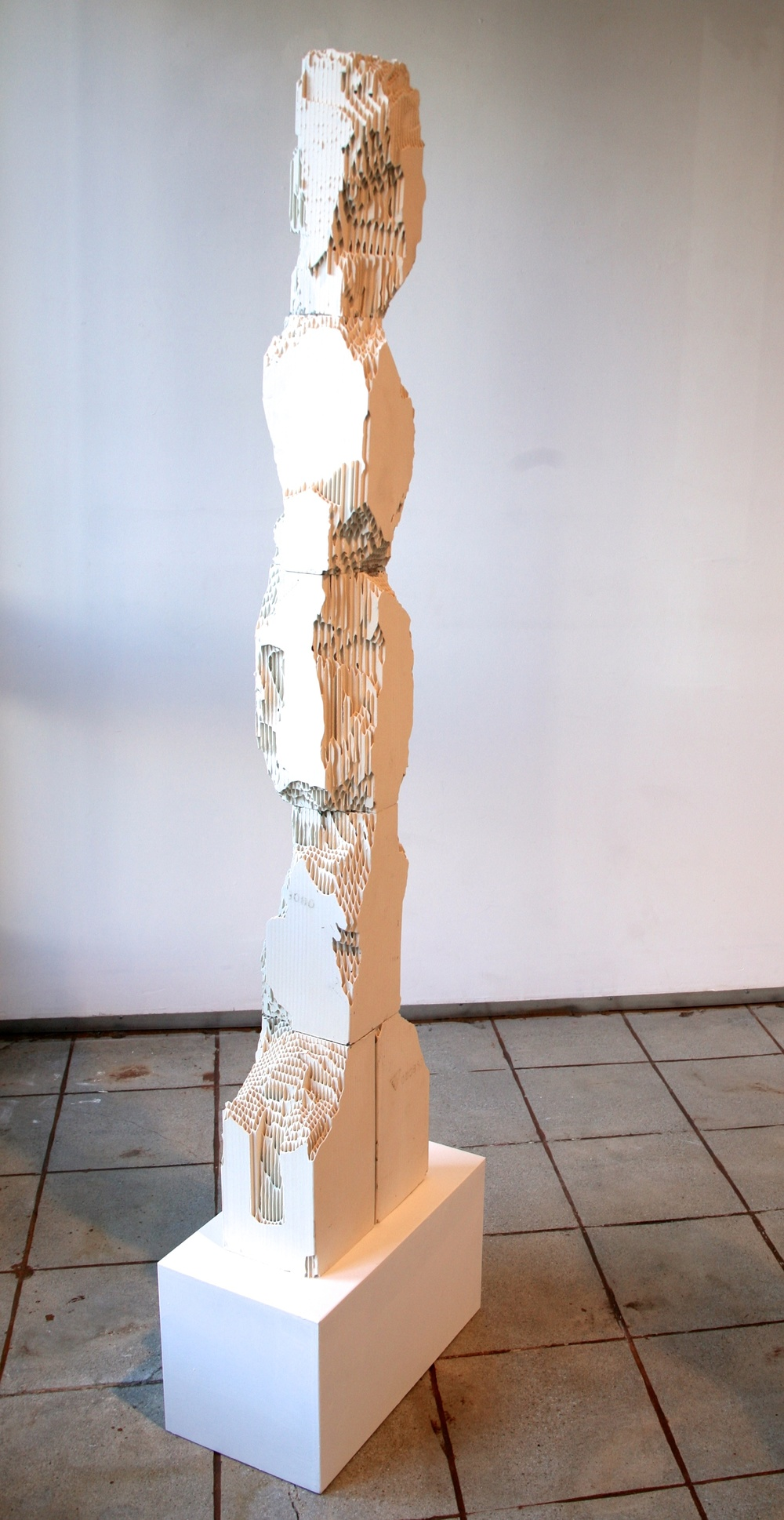 "Randy Colosky,""Rise and Fall,"" 2014, engineered ceramic block, 60 x 12 x 6 inches"