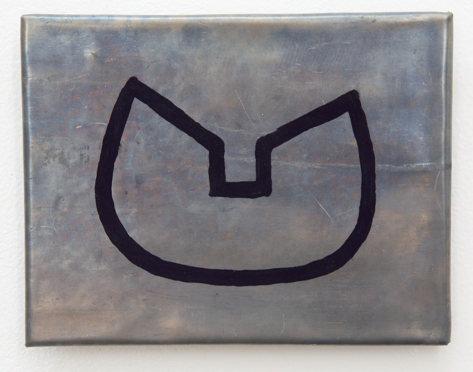 "Mari Andrews, ""Indigogap Lead,"" 2016, lead, wood, indigo, 5.5 x 7 x .5 inches"