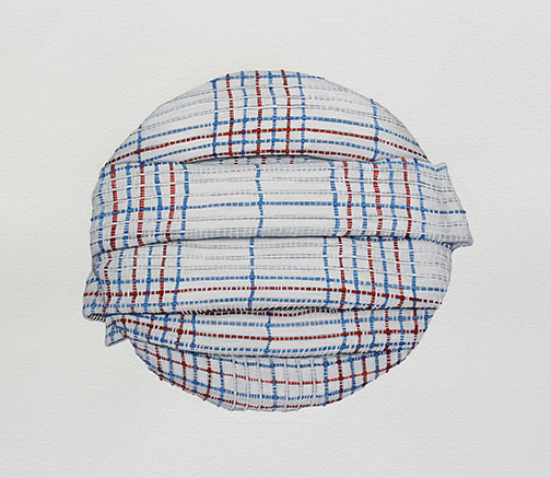 "Leeza Doreian, ""Curtain Gouache #1,"" 2015, gouache on paper, 12.5 x 13.25 inches paper size, 13.25 x 14.5 inches framed"