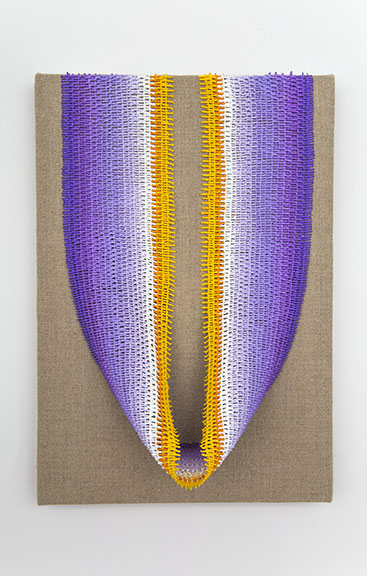 "Danielle Mysliwiec, ""Crocus III,"" 2014, oil on linen over wood panel, 13 x 9 x 4 inches"