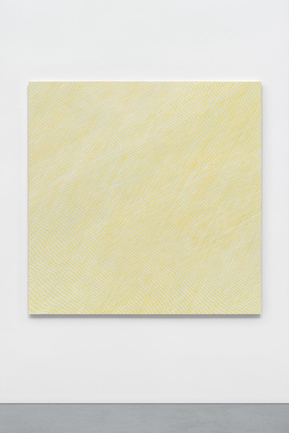 """Sun Mist,"" 2016, phosphorescent and acrylic on panel, 60 x 60 x 2 inches"