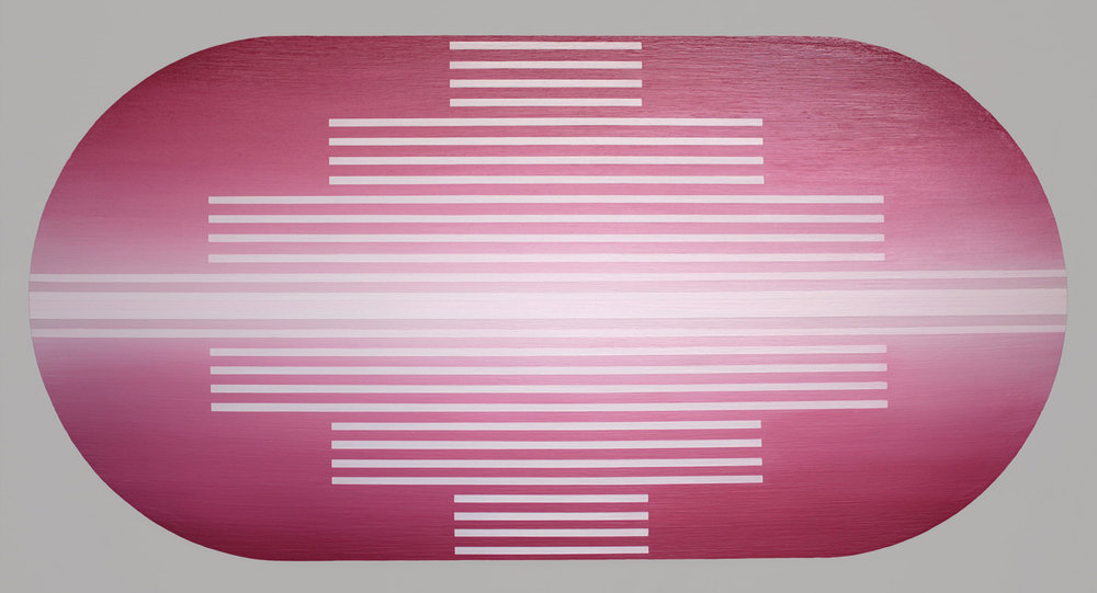 Brian Caraway,  Obligation of Repetition , 2016, acrylic on panel, 36 x 74 inches Courtesy of the Artist and Chandra Cerrito Contemporary, Oakland