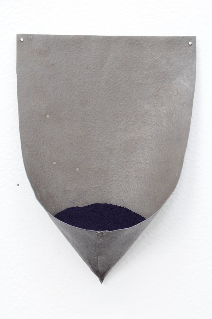 Mari Andrews, Leadindigo (detail), 2013, lead, indigo pigment, 6.5 x 5 x 2 inches each